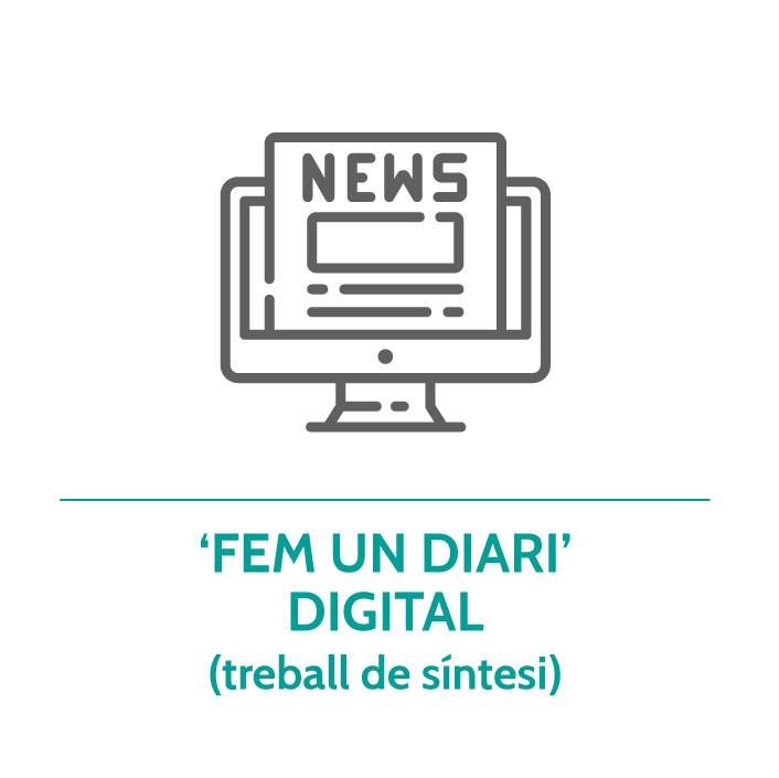 Botó per coneixer el treball de síntesi 'Fem un diari' digital de Junior Report
