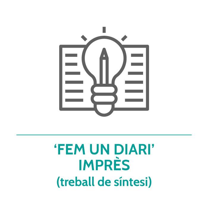Botó per coneixer el treball de síntesi 'Fem un diari' imprès de Junior Report