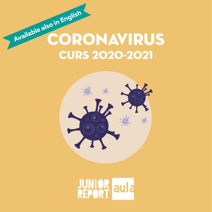 Botó per coneixer l'Unitat Didàctica Coronavirus curs 2020-2021 de Junior Report Aula