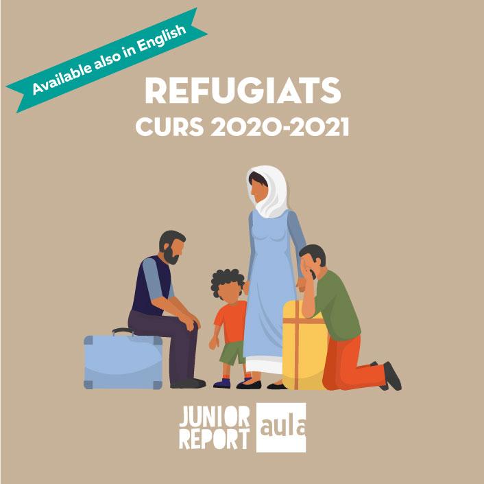 Botó per coneixer l'Unitat Didàctica Refugiats curs 2020-2021 de Junior Report Aula