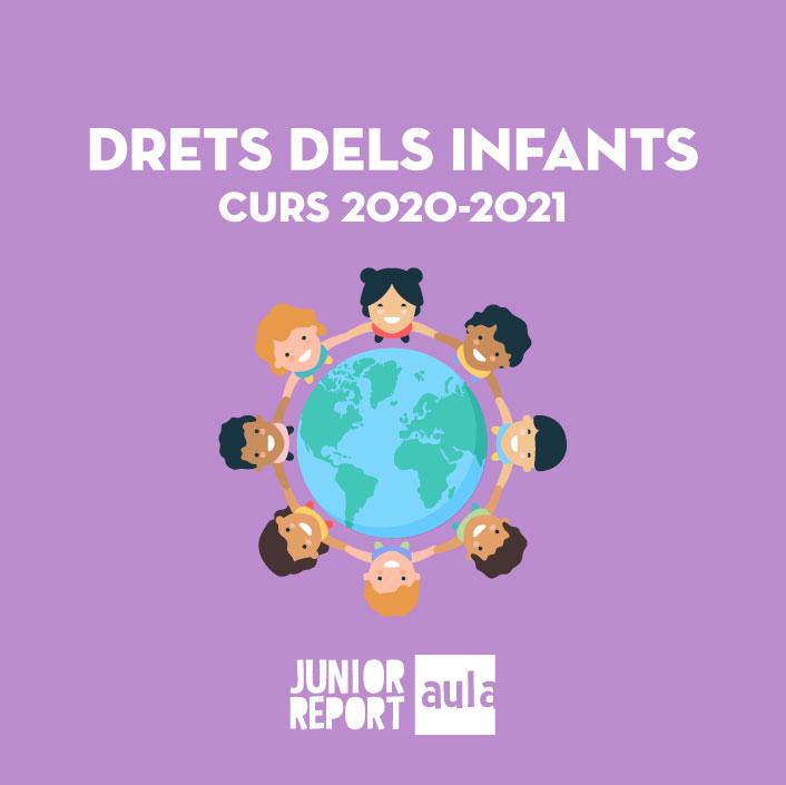 Botó per coneixer l'Unitat Didàctica Drets dels Infants curs 2020-2021 de Junior Report Aula