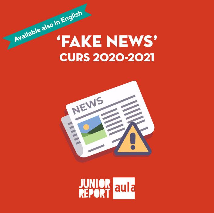 Botó per coneixer l'Unitat Didàctica Fake News curs 2020-2021 de Junior Report Aula