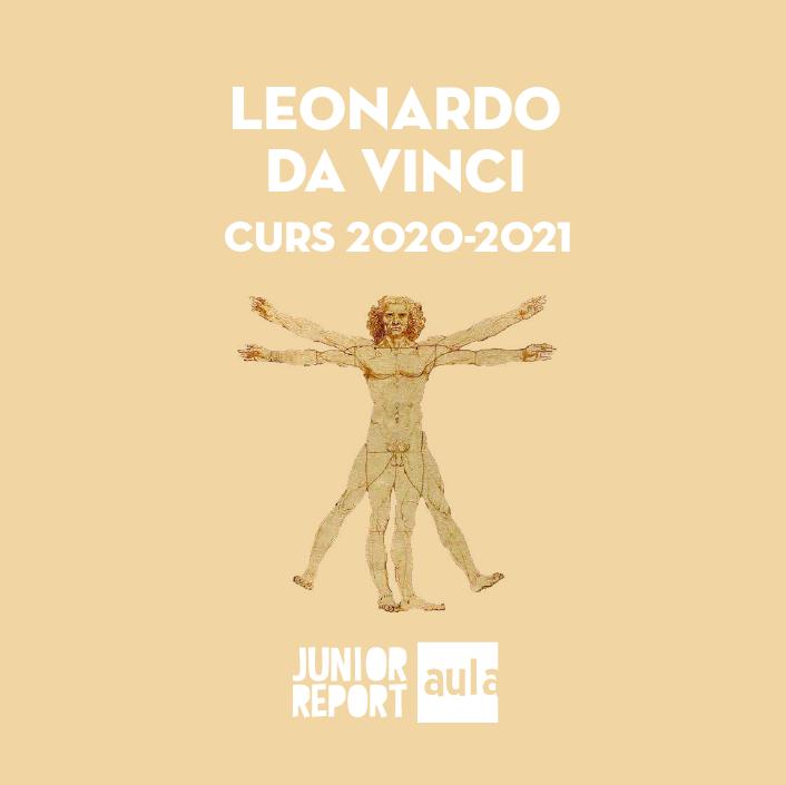 Botó per coneixer l'Unitat Didàctica Leonardo Da Vinci de Junior Report Aula