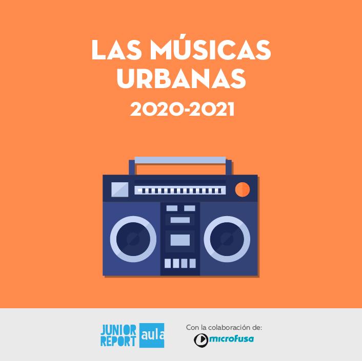Botón para conocer la Unidad Didáctica Las músicas urbanas de Junior Report Aula y Microfusa