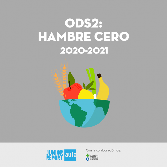 Botón para conocer la Unidad Didáctica ODS2: Hambre cero de Junior Report Aula y Acción contra el hambre