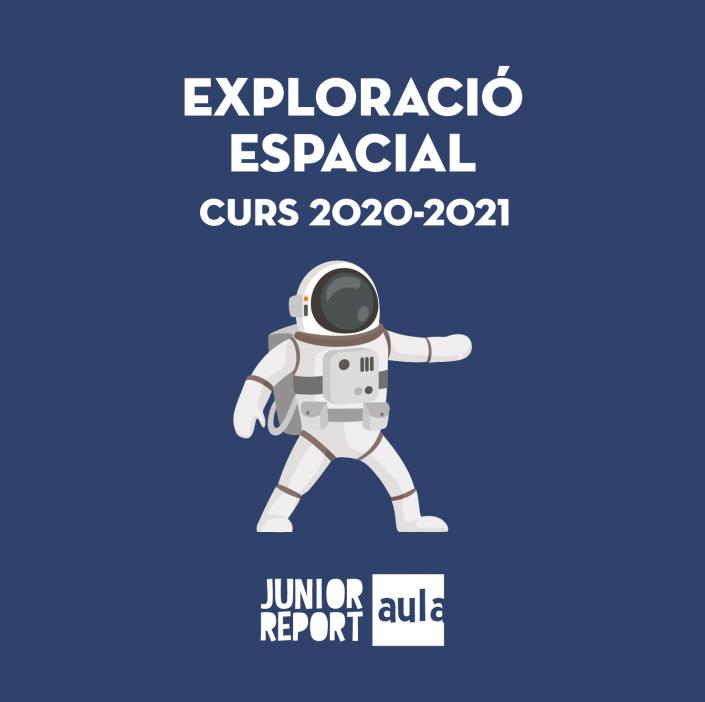 Botó per coneixer l'Unitat Didàctica Exploració Espacial de Junior Report Aula