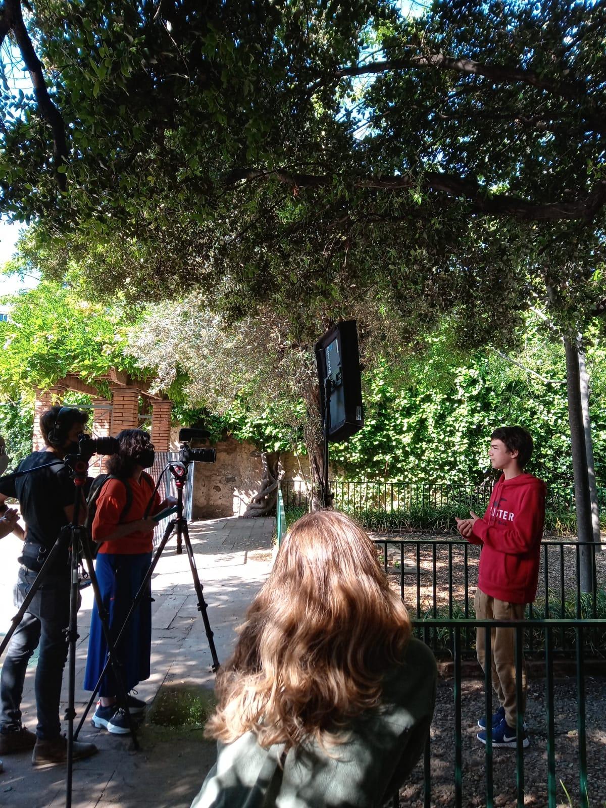 Rodatge del programa PáginaDos a l'escola FEDAC Horta de Barcelona